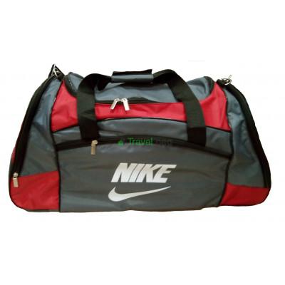 Сумка дорожная спортивная Nike б 63*27*33 серо-красная