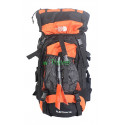 Рюкзак туристический The North Face Electron 60 л-черно-оранжевый