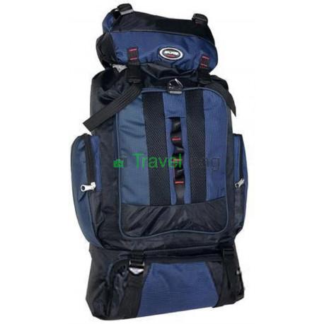 Рюкзак туристический Sports fashion 60х38х20 черно-темно-синий