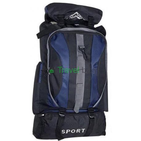 Рюкзак походный Sports fashion 60х38х20 черно-темно-синий