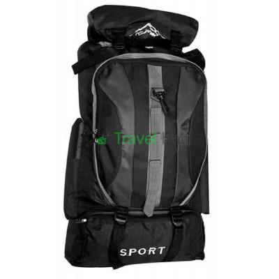 Рюкзак походный Sports fashion 60х38х20 черно-красный