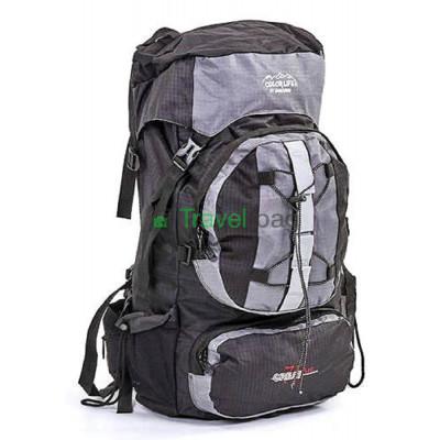 Рюкзак туристический каркасный COLOR LIFE 65(+13)х38х25 75л темно-серый