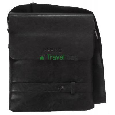 Сумка планшет мужская через плечо черная 28х24х5,5 см