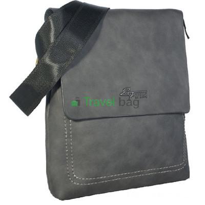 Сумка планшет мужская через плечо черная 27х24х5 см