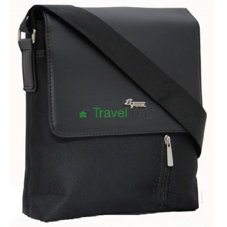 Сумка планшет мужская через плечо черная 26х24х6 см