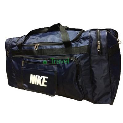 Сумка дорожная прямоугольная Nike большая 79 см темно-синяя