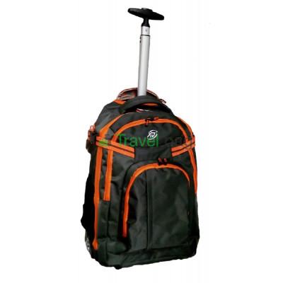 Рюкзак на колесах XJ 38 л серо-оранжевый RBL054S