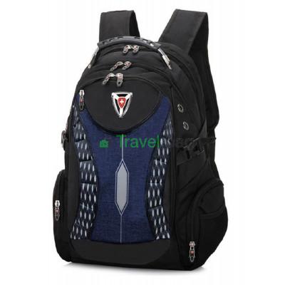 Рюкзак спортивный SWISSGEAR 30л 48x33x17 черно-синий