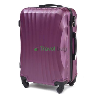 Чемодан Wings 159 средний темно-фиолетовый пластиковый 60 см