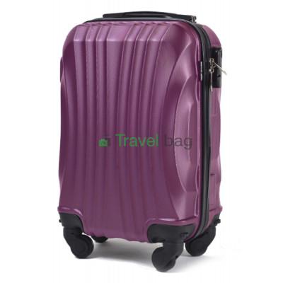 Чемодан Wings 159 микро темно-фиолетовый пластиковый 44 см