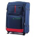 Чемодан тканевый WINGS 206 большой темно-синий 2 колеса 73 см