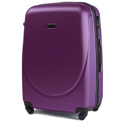 Чемодан Wings средний темно-фиолетовый пластиковый 60 см с расширением