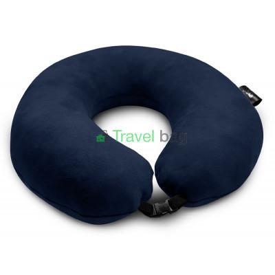 Подушка дорожная темно-синяя