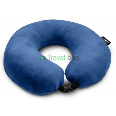 Подушка дорожная синяя
