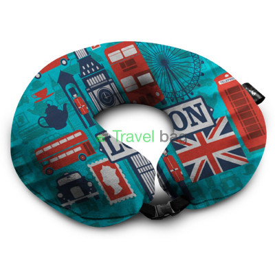 Подушка дорожная с рисунком Лондон