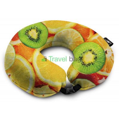 Подушка дорожная с рисунком Апельсин
