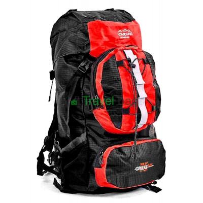 Рюкзак туристический каркасный COLOR LIFE 65(+13)х38х25 75л красный