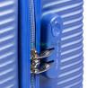 Чемодан пластиковый WINGS 203 микро синий 51 см