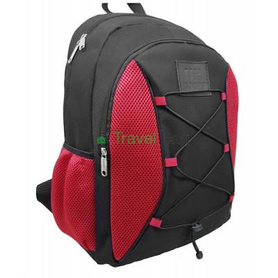 Рюкзак спортивный Uksport со шнурками черно-красный 41х30 см