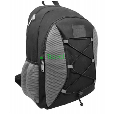 Рюкзак спортивный Uksport со шнурками черно-серый 41х30 см