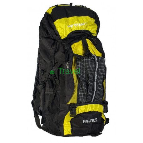 Рюкзак туристический 50 л EVEVEME 60х38х20 черно-желтый