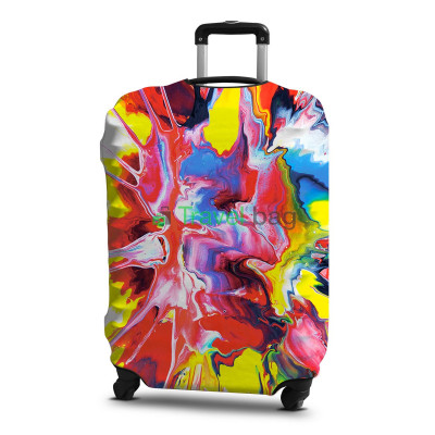 Чехол на чемодан размер L дайвинг с рисунком абстракция