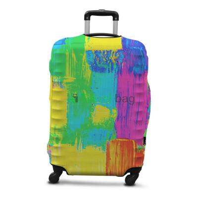 Чехол на чемодан размер L дайвинг с рисунком мазки красок