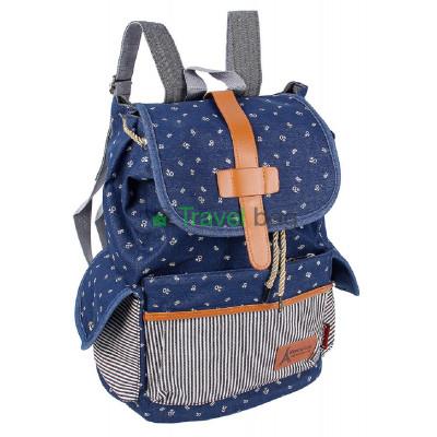 Рюкзак женский тканевый синий R50560