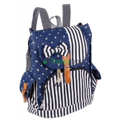 Рюкзак женский тканевый синий R50561