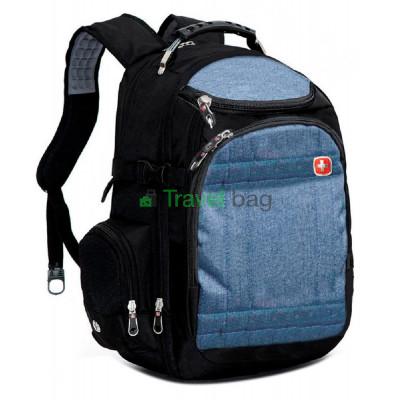 Рюкзак спортивный SWISSGEAR 559376C 30л 44x32x17 черно-синий