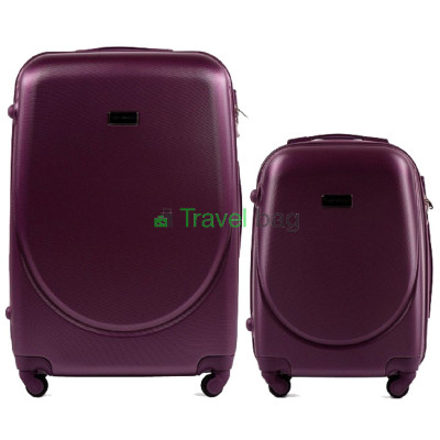 Комплект пластиковых чемоданов Wings (большой 75 см + малый 55 см)
