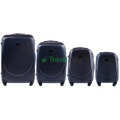 Комплект пластиковых чемоданов Wings (L+M+S+XS)