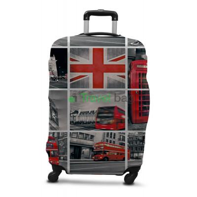 Чехол на чемодан дайвинг с рисунком M Лондон