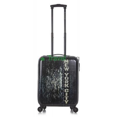 Чемодан малый David Jones New York черный пластиковый 54,5 см