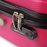 Чемодан большой David Jones красный (фуксия) пластиковый 76 см