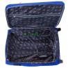Чемодан тканевый WINGS 1706 средний светло-синий с полосой 2 колеса 63 см
