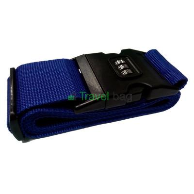 Ремень для чемодана с замком синий