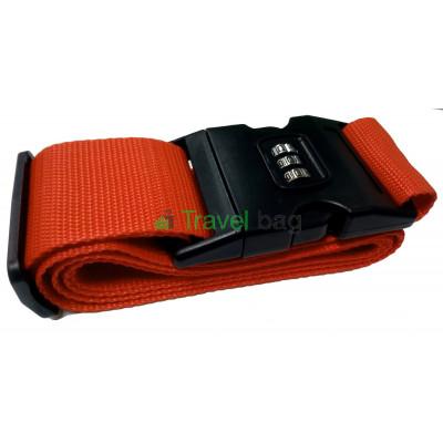 Ремень для чемодана с замком оранжевый