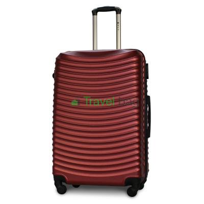 Чемодан FLY 1053 большой бордовый пластиковый 75 см