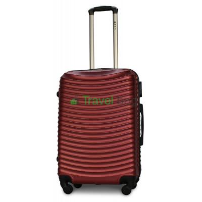 Чемодан FLY 1053 средний бордовый пластиковый 65 см