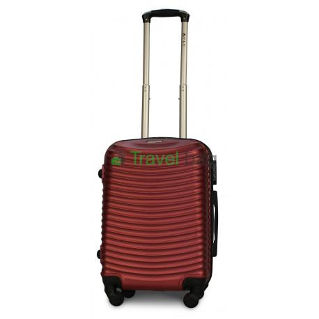 Чемодан пластиковый FLY 1053 маленький бордовый 55 см